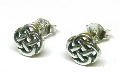 CLASSIC 9ct Gold Square Oval Link Celtic Knot Studs EARRINGS B/'Day Mum/'s GIFTBOX