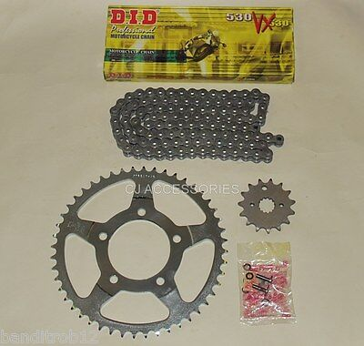 DID Grey X-Ring Chain And JT Sprocket Kit For Suzuki GSF600 Bandit 00-04 MK2