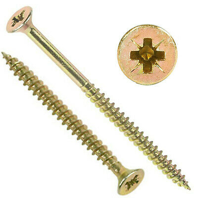 MIXED PACK 1000, 8g (4mm) PROFESSIONAL TIMCO YELLOW WOOD SCREW POZI COUNTERSUNK