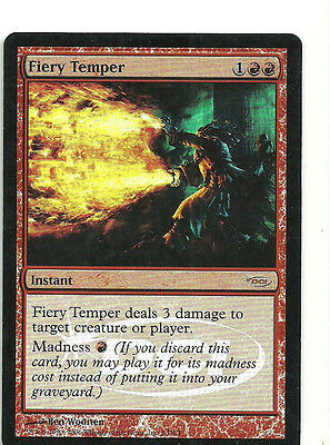 mtg Magic 1x Fiery Temper ( Caracter ardiente ) Eng GOOD - Gateway Promos FOIL