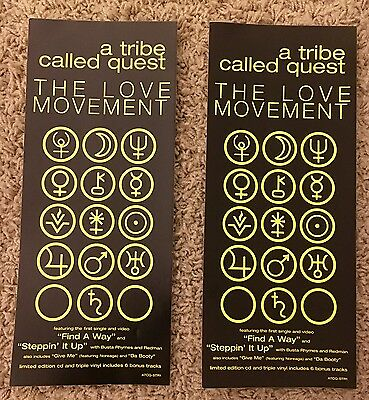 "Rare! A Tribe Called Quest ""love Movement"" Promo Stickers! 1998! (Q-Tip, Atcq)"