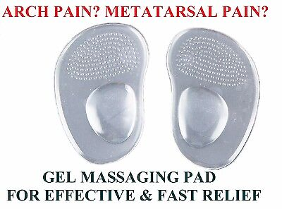 NEW GEL ARCH Support METATARSAL Ball of Foot Pain Pad Cushion Insole Orthotic