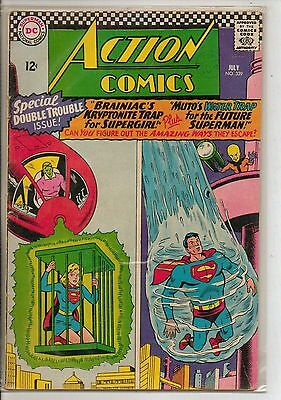 DC Comics Action Comics #339 July 1966 Brainiac F