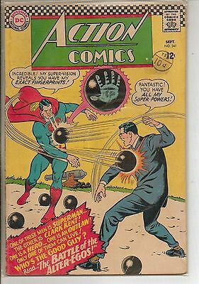 DC Comics Action Comics #341 September 1966 Supergirl VG