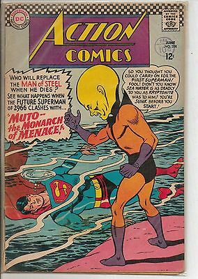 DC Comics Action Comics #338 June 1966 Supergirl VG