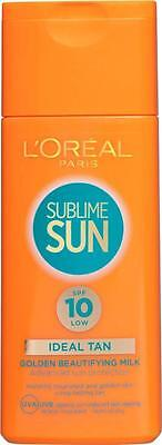 ** L'OREAL SUBLIME SUN GOLDEN BEAUTIFYING MILK 10 SPF NEW **  SUN LOTION 200ml