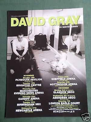 David Gray - Magazine Clipping / Cutting- 1 Page Advert