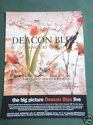 Deacon Blue - Magazine Clipping / Cutting- 1 Page Advert - #1