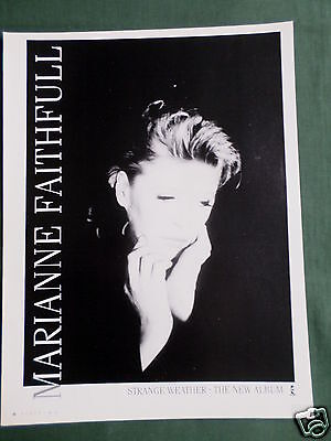 Marianne Faithfull- Magazine Clipping / Cutting- 1 Page Advert
