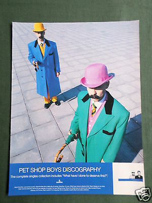Pet Shop Boys - Magazine Clipping / Cutting- 1 Page Advert