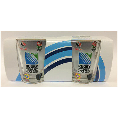 Rugby World Cup Shot Glasses Set of 2