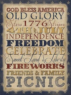 Uncle Sam with Declaration 32x24 GICLEE Art Print Poster Decor by Beth Albert