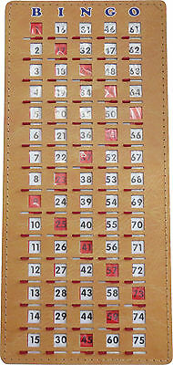 BINGO Masterboard Shutter/Slide Card for tracking called numbers