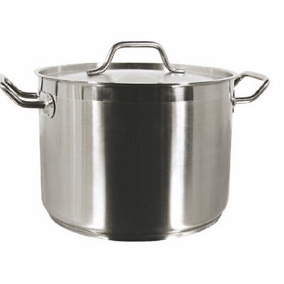 Thunder Group SLSPS100 - 100 Quart 18/8 Stainless Stock Pot W/ Lid - Each NEW