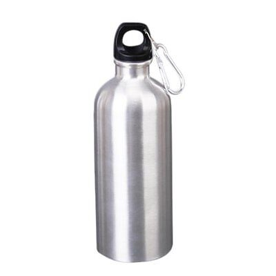 1000 ml Stainless Steel Sports Water Bottle with Climbing Hook - Silver HY