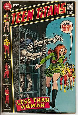 DC Comics Teen Titans #33 June 1971 F+