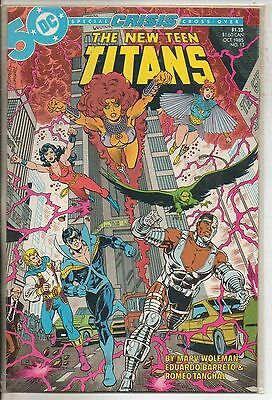 DC Comics New Teen Titans Vol 2 #13 October 1985 Crisis On Infinite Earths NM