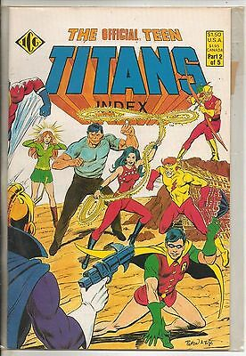 DC Comics Official Teen Titans Index #2 September 1985 NM