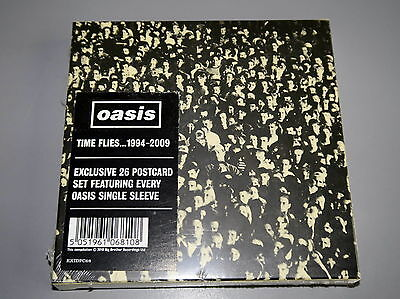 Oasis Time Flies... 1994-2009 Exclusive 26 Postcards Set of every sleeve Sealed