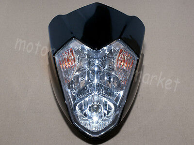 Motorcycle Bike Off Road Universal H4 Hi/Low Dual Sport Streetfighter HeadLight
