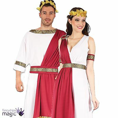 New Mens Ladies Roman God Goddess Toga Caesar Venus Fancy Dress Costume Couples