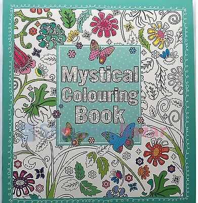 Mystical Adult Colouring Book (New Anti-Stress Art Therapy Relaxing Calming P/B)