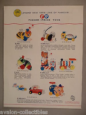 Fisher-Price CATALOG - 1958 ~~ Sears toy, toys ~~ nice condition