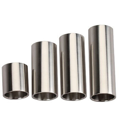 4pcs StaInless Steel Silver Hard-chrome Plated Guitar Slides HY