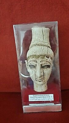 .RARE IVORY HEAD. VINTAGE.. National Museum of Art.. UGARIT SYRIA Hard to Find