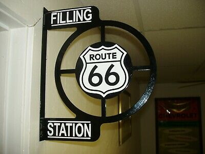 Route 66  Nostalgic 1950S Wall Flange Advertising Sign