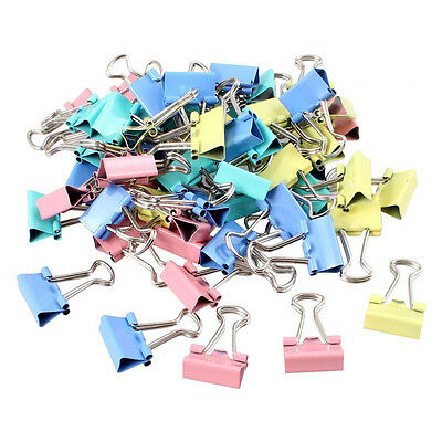 60 Pcs Metal Assorted Color File Paper Binder Clips HY