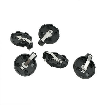 CR2016 2025 2032 Coin Cell Button Battery Holder Socket Black 5 Pcs HY