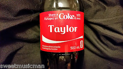 Share A Coke With Taylor Coca Cola Canadian Bottle 2015