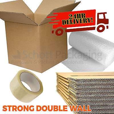 15 X LARGE NEW DOUBLE WALL Cardboard Moving Boxes - Removal Packing Storage