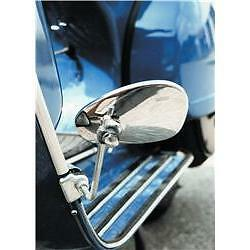 Chrome Left Hand Clamp On Legshield Mirror fits any Vespa Legshield