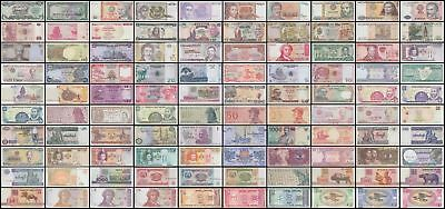 100 Different World Banknotes Uncirculated Unc Intl International Currency Money