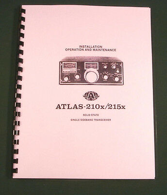 Atlas 210x / 215X Instruction Manual - Premium Card Stock Covers & 28lb Paper!