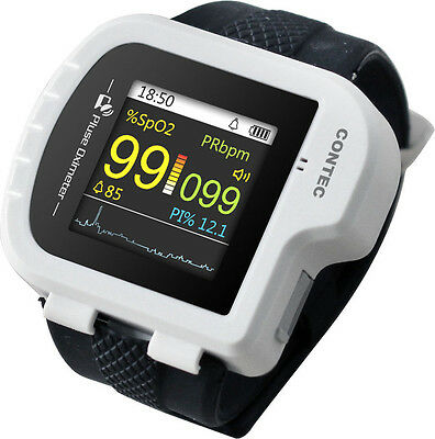CMS50I Wrist Pulse Oximeter, perfect for long-term PR & O2 Saturation Monitoring