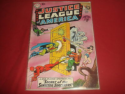 JUSTICE LEAGUE OF AMERICA #2 Silver Age DC Comics 1960 G+/VG-