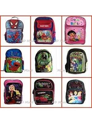 New Boys Girls School Backpack Bag Large H40*L27*W16 Spiderman,Dora,Cars GIFT