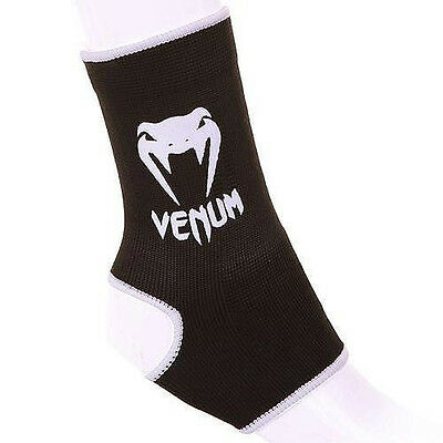 Venum Black Kontact Ankle Supports Muay Thai Ankle Guards Anklets