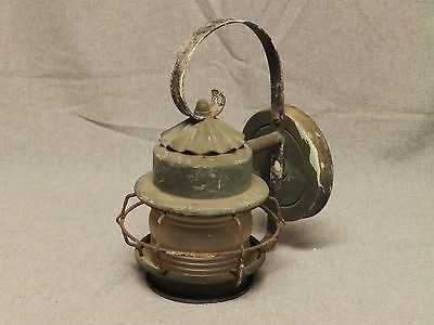 Vintage Copper Porch Sconce Cage Light Jelly Jar Globe Old Wall Fixture 693-16