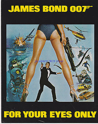 James Bond For Your Eyes Only 1981 British Screening Program Roger Moore