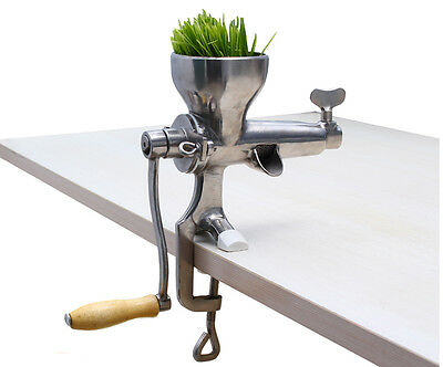Stainless Steel Wheat Grass Hand Juicer New Manual Juice Wheatgrass Extractor
