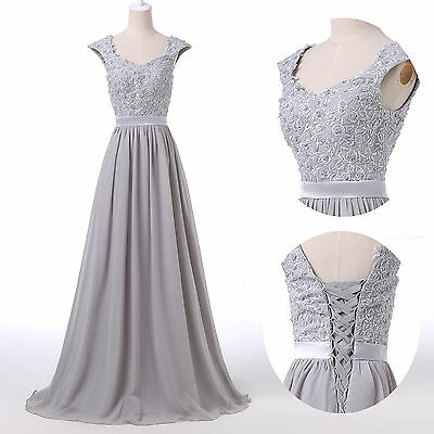 New Long Lace Bridesmaid Formal Gown Ball Cocktail Evening Prom Party Dress