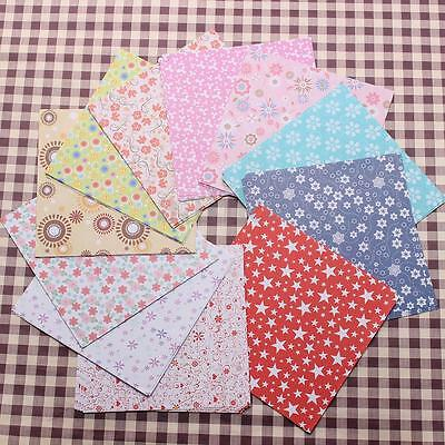 72 Sheets Floral Square Origami Folding Crane Chiyogami Craft Lucky Wish Paper