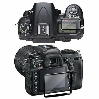2-LCD Kit Screen Protector Glass For Nikon D7000 HY