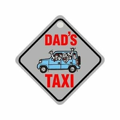 Castle Promotions Suction Cup Diamond Sign - Grey - Dad's Taxi - DH08