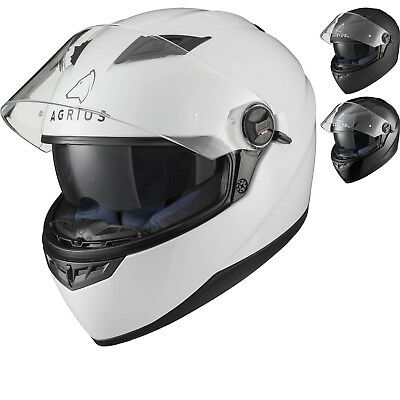 Agrius Rage SV Solid Full Face Motorcycle Helmet 4 Star Sharp Inner Sun Visor
