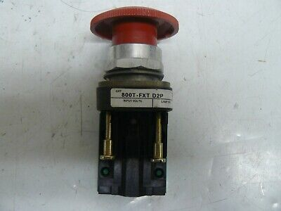 Allen Bradley 800T-Fxt D2P Pushbutton Emergency Stop With 800T-Xd2P Contact